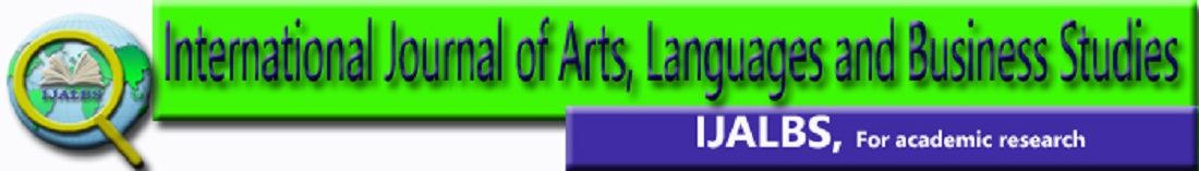 International Journal of Arts, Languages and Business Studies